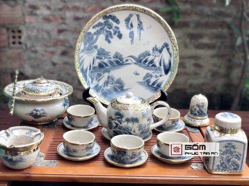ấm trà cổ bọc đồng