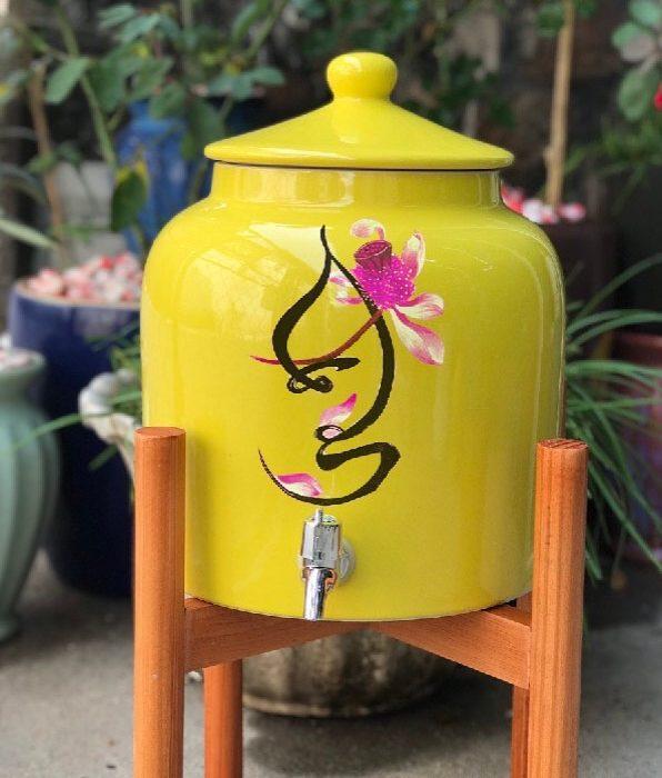 Bình sứ đựng nước gốm sứ bát tràng 8-10l giá rẻ