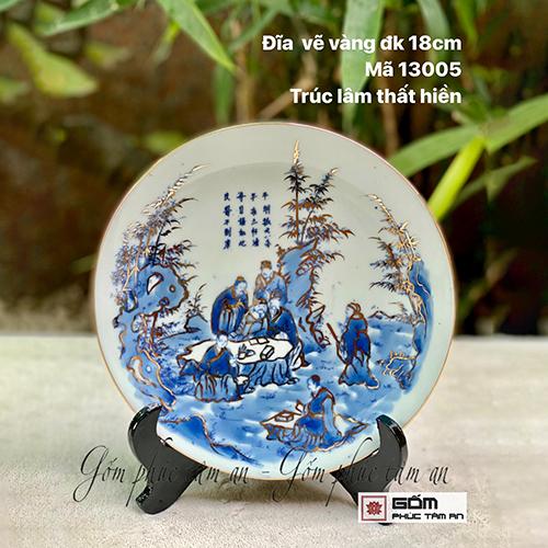 bán đĩa trưng bày gốm sứ bát tràng giá tốt bán đ