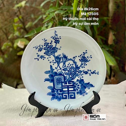 bán tranh đĩa gốm sứ bát tràng giá rẻ bán tranh đ