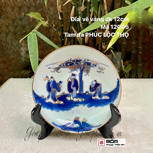 bán tranh đĩa trưng bày gốm sứ bát tràng cao cấp b