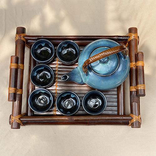 Ấm trà hỏa biến xanh ngọc hỏa biến