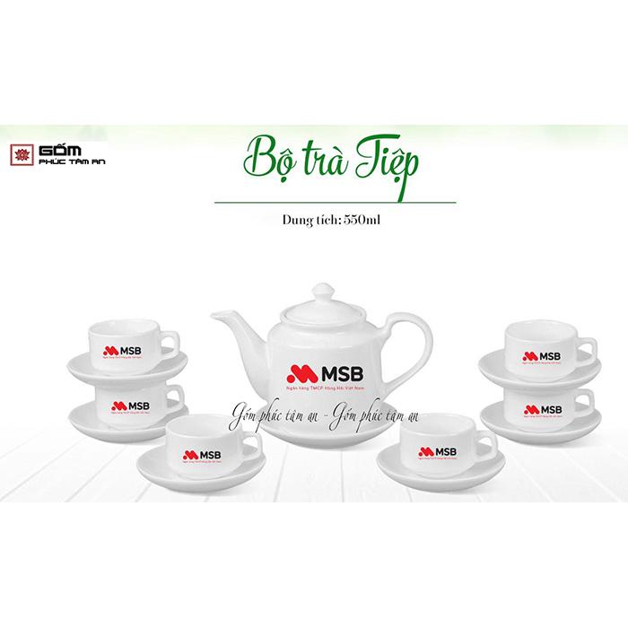 ấm chén in logo bộ ấm trà tiệp
